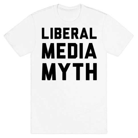 Liberal Media Myth  Mens T-Shirt