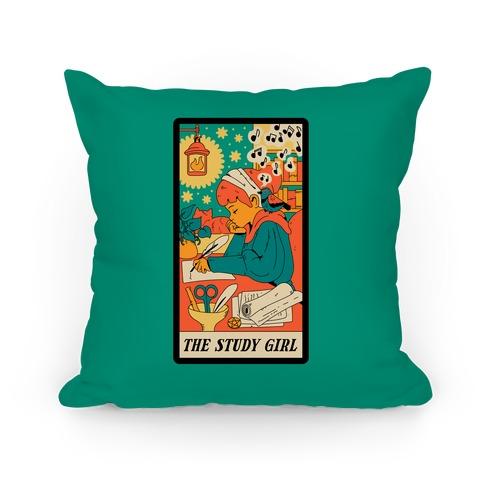 The Study Girl Tarot Card Pillow