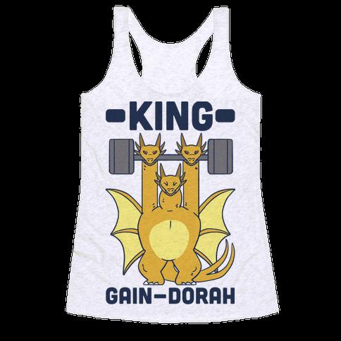 King Gain-dorah - King Ghidorah Racerback Tank Top