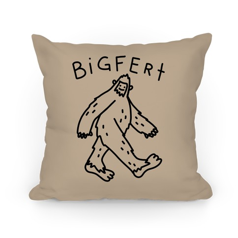 Derpy Bigfert Sasquatch Pillow
