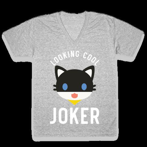 Looking Cool Joker V-Neck Tee Shirt