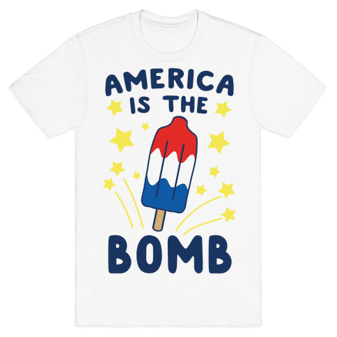 America is the Bomb - Pop Mens T-Shirt