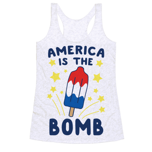 America is the Bomb - Pop Racerback Tank Top