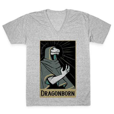 Dragonborn - Dungeons and Dragons V-Neck Tee Shirt