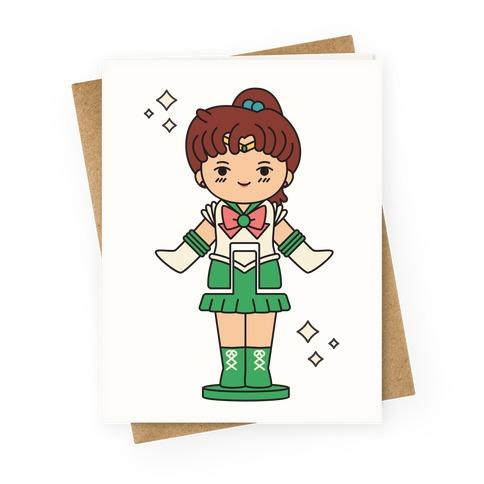 Sailor Jupiter Pocket Parody Greeting Card