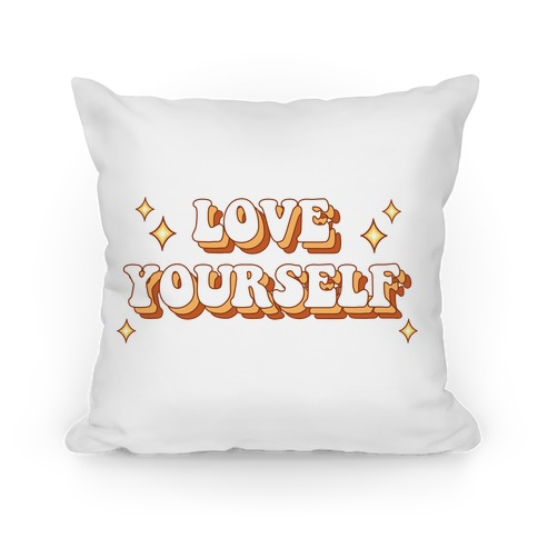 Love Yourself (groovy) Pillow