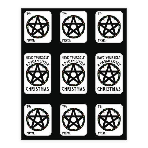 Have Yourself A Pagan Little Christmas Parody Sticker and Decal Sheet