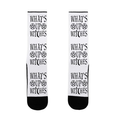 What's Up Witches Sock