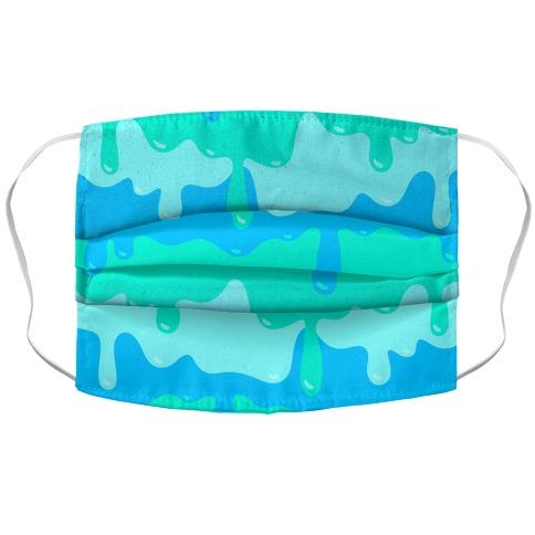 Blue Slime Face Mask Cover