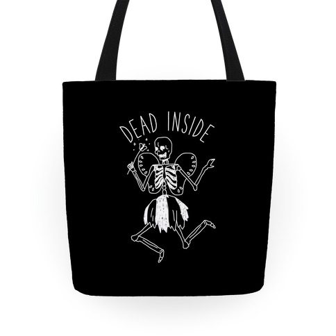 Dead Inside Skeleton Fairy Tote