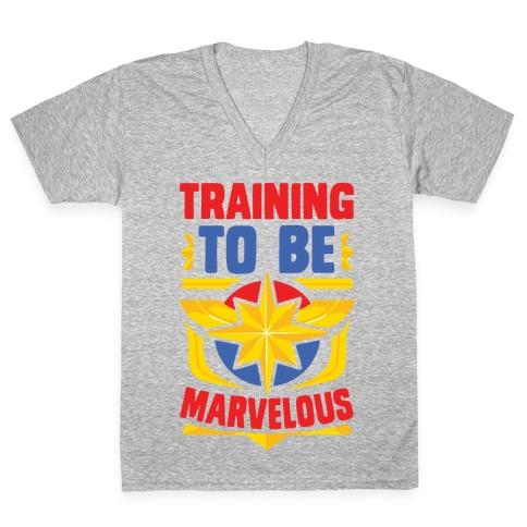 Traning to be Marvelous V-Neck Tee Shirt