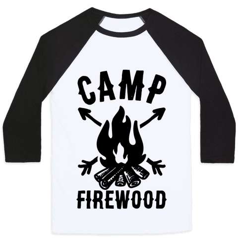 Camp Firewood Baseball Tee