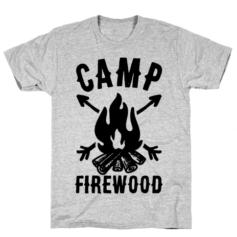 Camp Firewood Mens T-Shirt