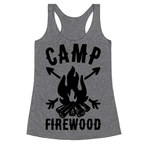 Camp Firewood Racerback Tank Top