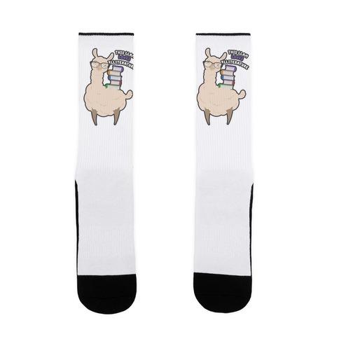 This Llam Loves Lliterature Sock