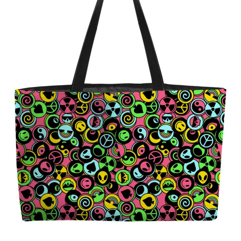 Pogs Collection Pattern Weekender Tote