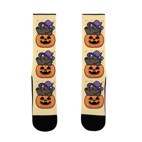 Cute Halloween Cat Sock