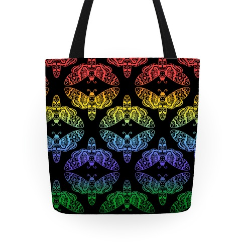 Rainbow Moth Pattern Tote