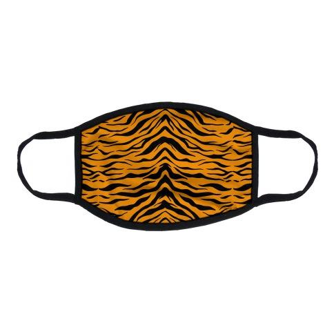 Tiger Stripe Pattern Flat Face Mask