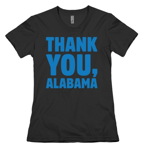 Thank You Alabama White Print Womens T-Shirt