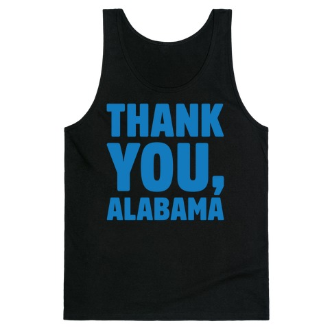 Thank You Alabama White Print Tank Top