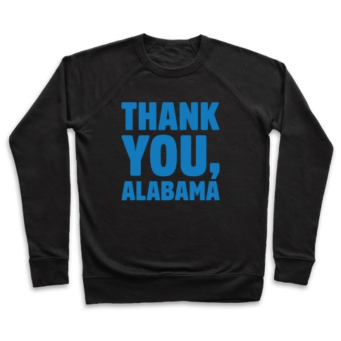 Thank You Alabama White Print Pullover