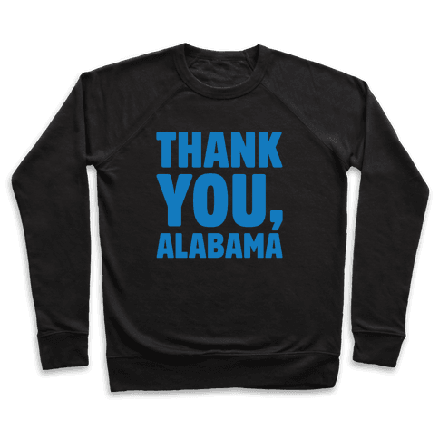 Thank You Alabama White Print Pullover