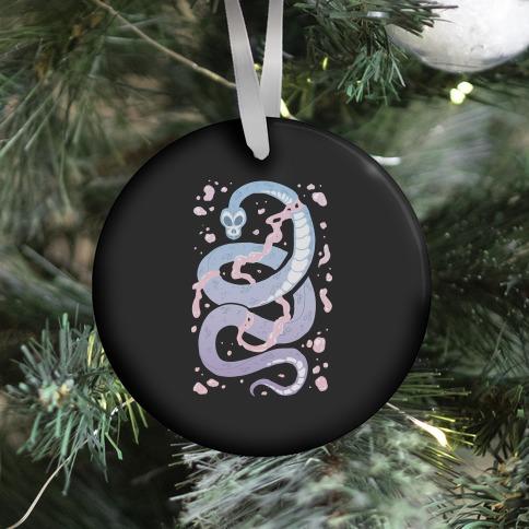 Pastel Goth Snake Ornament