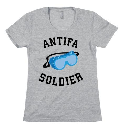 Antifa Soldier Womens T-Shirt