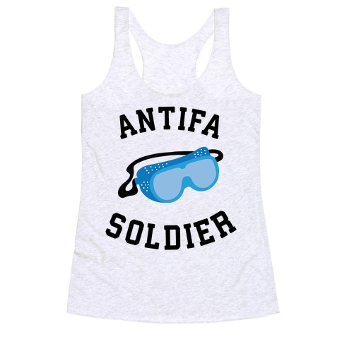 Antifa Soldier Racerback Tank Top