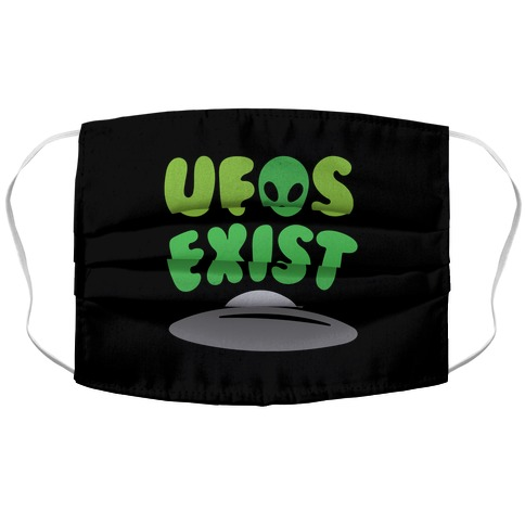 UFOS Exist Accordion Face Mask