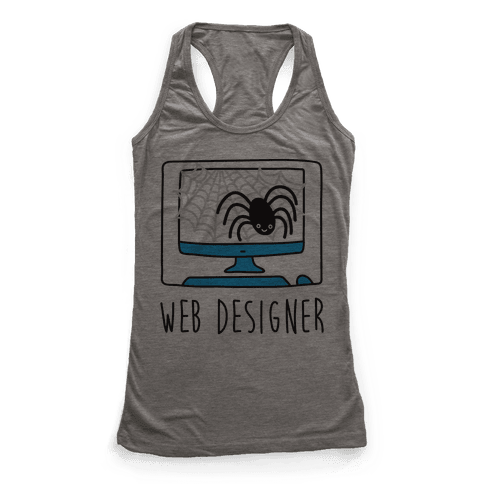 Web Designer Spider Racerback Tank Top