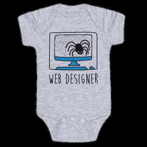 Web Designer Spider Baby Onesy