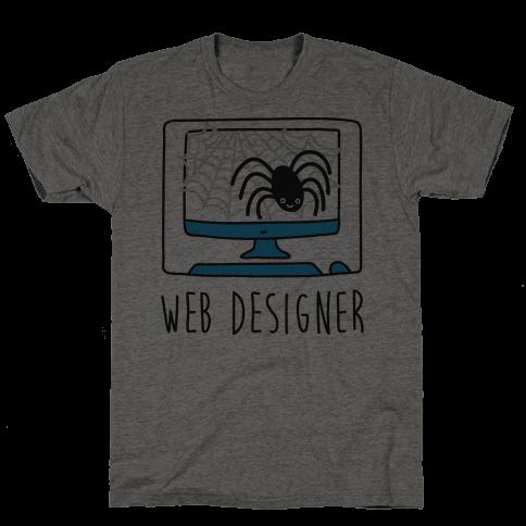 Web Designer Spider Mens T-Shirt