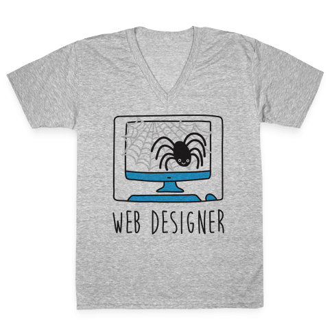 Web Designer Spider V-Neck Tee Shirt