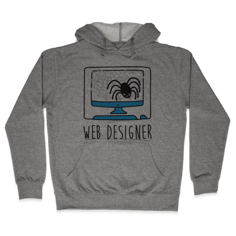 Web Designer Spider Hooded Sweatshirt
