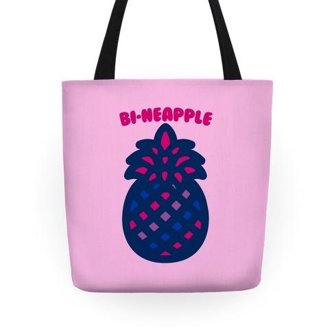 Bi-Neapple Bisexual Pride Pineapple Parody Tote