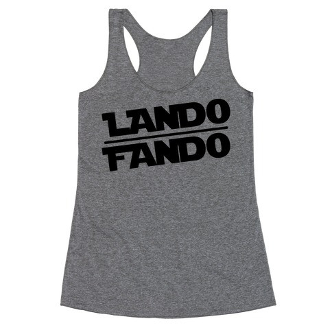 Lando Fando Parody Racerback Tank Top