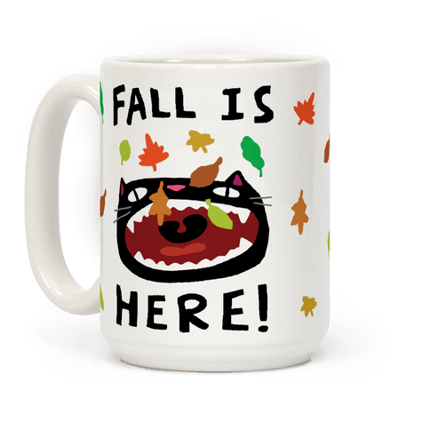 Fall Is Here Cat Coffee Mug