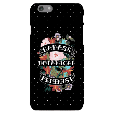 Badass Botanical Feminist Phone Case