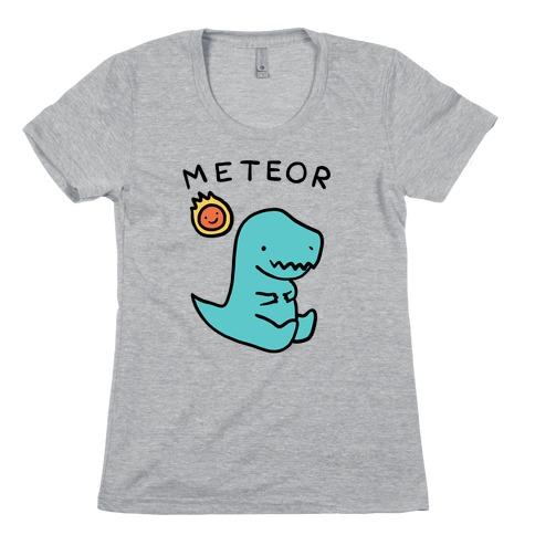 Meteor Dino Womens T-Shirt