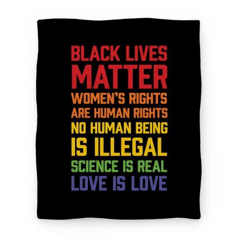 Black Lives Matter List Blanket