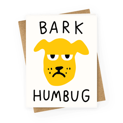 Bark Humbug Greeting Card