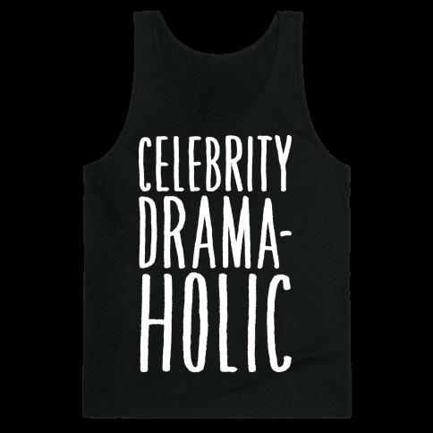 Celebrity Dramaholic White Print Tank Top