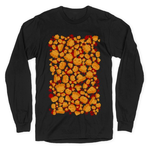 Halloween Nuggies Pattern Long Sleeve T-Shirt