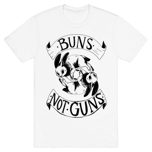 Buns Not Guns Mens T-Shirt