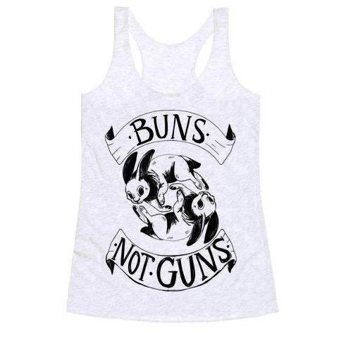 Buns Not Guns Racerback Tank Top