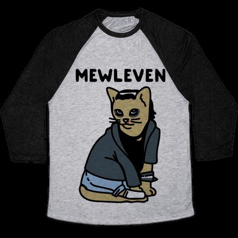 Mewleven Parody Baseball Tee