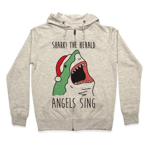Shark! The Herald Angels Sing Zip Hoodie