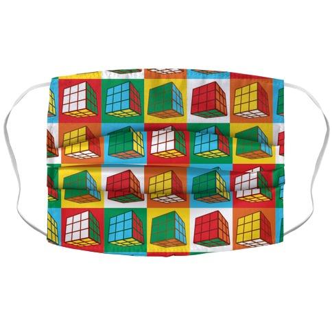 Rubix Cubes Pattern Accordion Face Mask